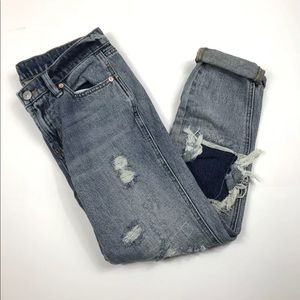 BDG DISTRESSED SLIM BF LOW RISE JEANS SIZE 26W